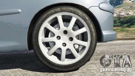 Peugeot 206 GTI для GTA 5 вид сзади справа