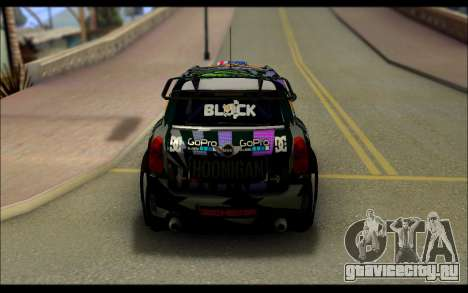 Mini Cooper Gymkhana 6 with Drift Handling для GTA San Andreas вид сзади