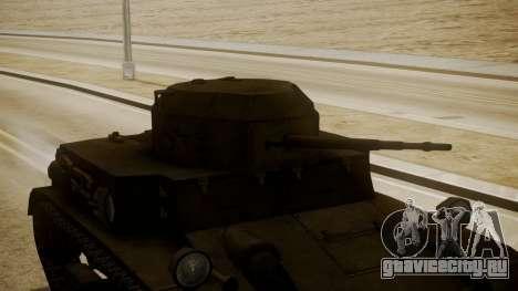 T2 Light Tank для GTA San Andreas вид справа