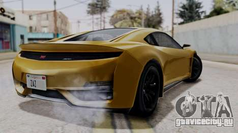 Dinka Jester Sparkle для GTA San Andreas вид слева