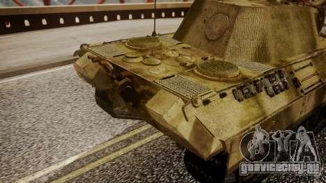 Panzerkampfwagen V Ausf. A Panther для GTA San Andreas вид справа