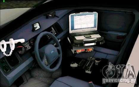 Weathersfield Police Crown Victoria для GTA San Andreas вид сзади