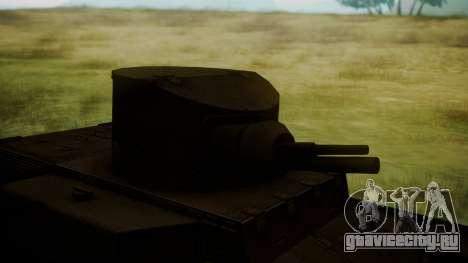 T1 E6 для GTA San Andreas вид сзади
