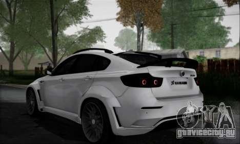 BMW X6M HAMANN Final для GTA San Andreas вид сзади