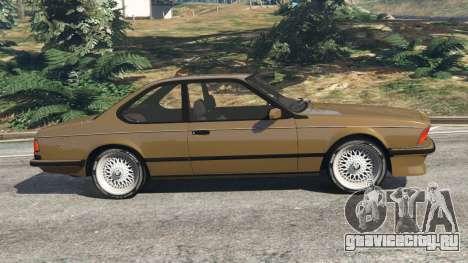 BMW M635 CSI (E24) 1986 для GTA 5 вид слева