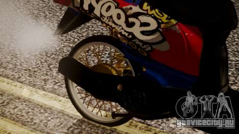 Honda Scoopy New Red and Blue для GTA San Andreas вид справа