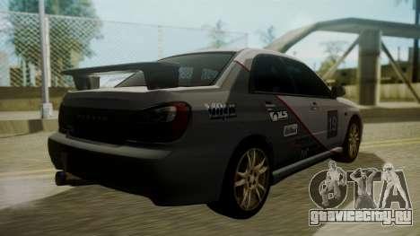 Subaru Impreza WRX GDA для GTA San Andreas вид снизу