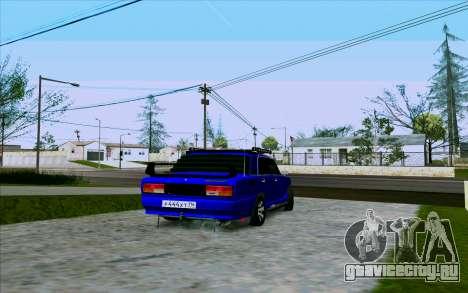 Ваз 2107 Tuning для GTA San Andreas вид справа