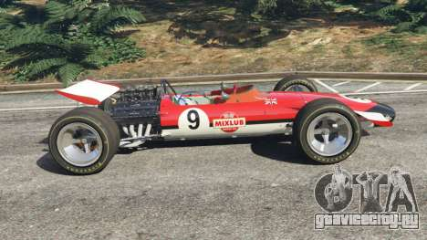 Lotus 49 1967 [ailerons] для GTA 5 вид слева