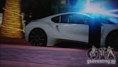 BMW i8 Coupe 2015 для GTA San Andreas салон