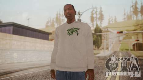 Sprunk Sweater Gray для GTA San Andreas второй скриншот