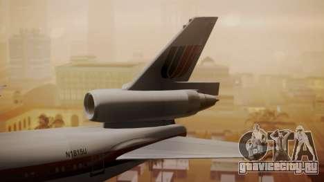 DC-10-10 United Airlines (80s Livery) для GTA San Andreas вид сзади слева