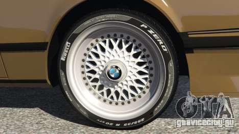 BMW M635 CSI (E24) 1986 для GTA 5 вид сзади справа
