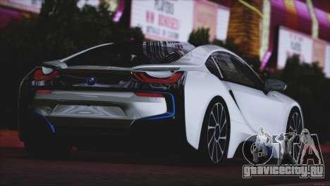BMW i8 Coupe 2015 для GTA San Andreas вид справа