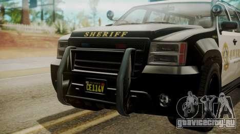 GTA 5 Declasse Granger Sheriff SUV IVF для GTA San Andreas вид справа