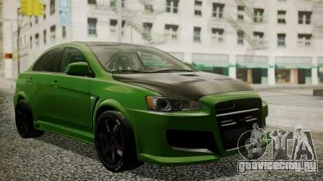 Mitsubishi Lancer Evolution X WBK для GTA San Andreas