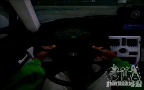 ВАЗ 2170 Приора ДПС для GTA San Andreas вид сбоку