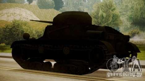 T2 Light Tank для GTA San Andreas вид слева