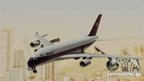 Airbus A380-800 British Overseas Airways Corp. для GTA San Andreas