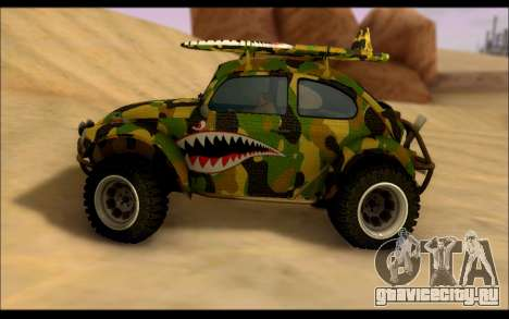 Volkswagen Baja Buggy Camo Shark Mouth для GTA San Andreas вид слева
