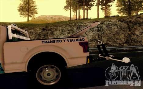 Ford F150 2015 Towtruck для GTA San Andreas вид сверху