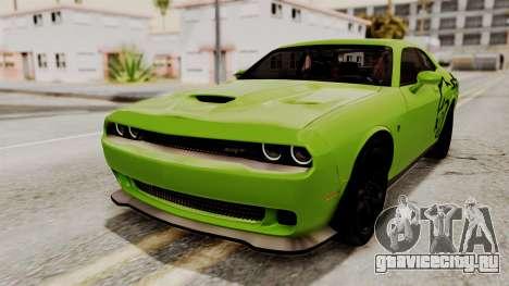 Dodge Challenger SRT Hellcat 2015 HQLM PJ для GTA San Andreas вид сверху