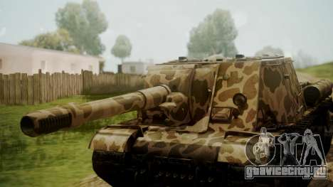 ISU-152 Panther Desert from World of Tanks для GTA San Andreas вид справа