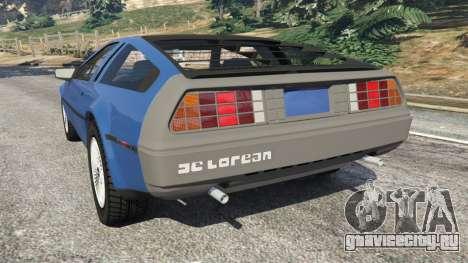 DeLorean DMC-12 v1.1 для GTA 5 вид сзади слева