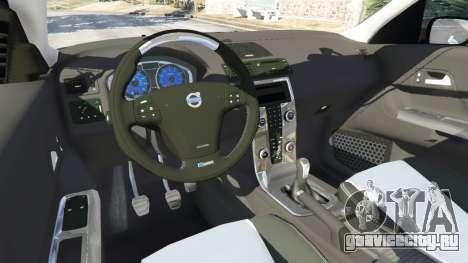 Volvo C30 T5 для GTA 5 вид сзади справа
