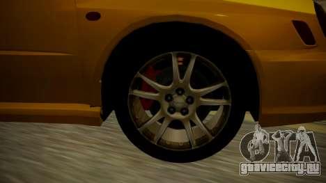 Subaru Impreza WRX GDA для GTA San Andreas вид сзади слева