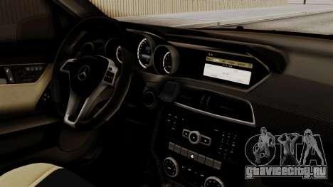 Mercedes-Benz С63 AMG ГИБДД МВД для GTA San Andreas вид справа
