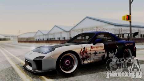 Mazda RX-7 Black Rock Shooter Itasha для GTA San Andreas
