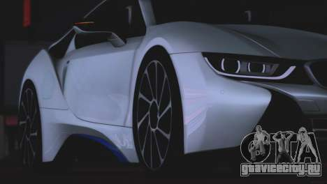 BMW i8 Coupe 2015 для GTA San Andreas вид изнутри