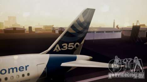 Airbus 350-900XWB Qatar Launch Customer для GTA San Andreas вид сзади слева