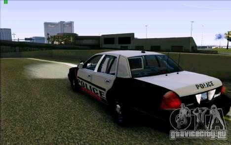 Weathersfield Police Crown Victoria для GTA San Andreas вид сзади слева
