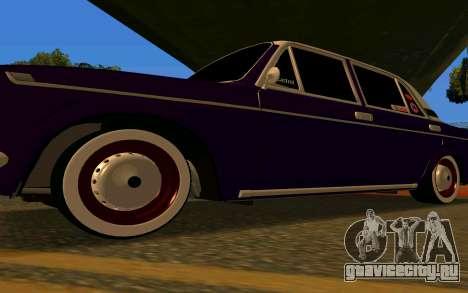 ВАЗ 2103 Баклажан для GTA San Andreas вид изнутри