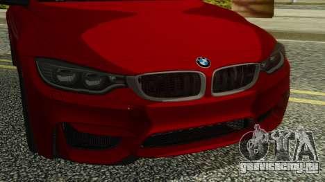 BMW M4 Coupe 2015 для GTA San Andreas вид сзади