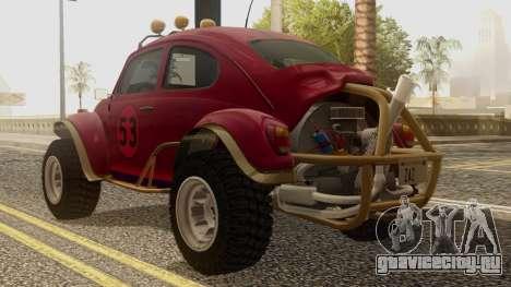 Volkswagen Beetle Baja Bug для GTA San Andreas вид слева