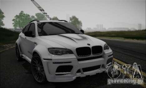BMW X6M HAMANN Final для GTA San Andreas вид изнутри