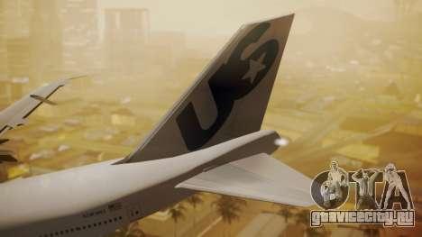 Boeing 747-200 Fly US для GTA San Andreas вид сзади слева