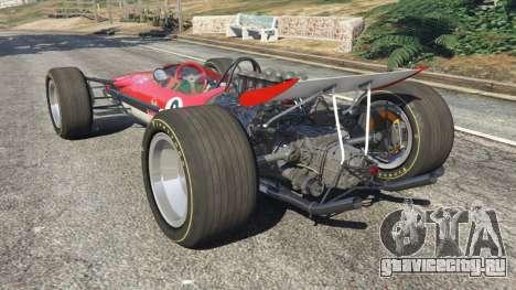 Lotus 49 1967 [ailerons] для GTA 5 вид сзади слева