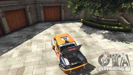 Renault 5 GT Turbo Rally для GTA 5 вид сзади