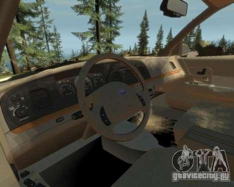 2003 Ford Crown Victoria для GTA 4 вид сзади