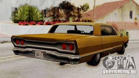 Taxi-Savanna v2 для GTA San Andreas вид слева