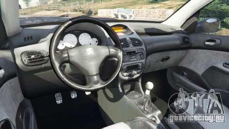 Peugeot 206 GTI для GTA 5 вид справа