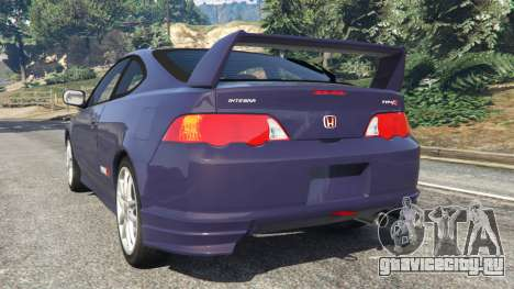 Honda Integra Type-R without license plate для GTA 5 вид сзади слева