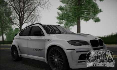 BMW X6M HAMANN Final для GTA San Andreas вид слева