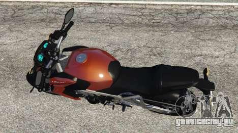 Honda CB 650F v0.9 для GTA 5 вид сзади