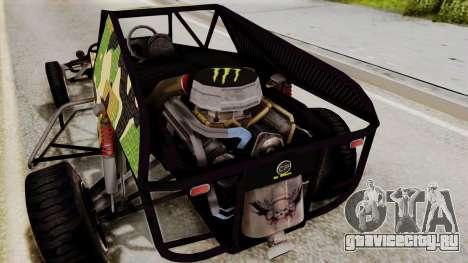 Buggy Camo Shark Mouth для GTA San Andreas вид изнутри