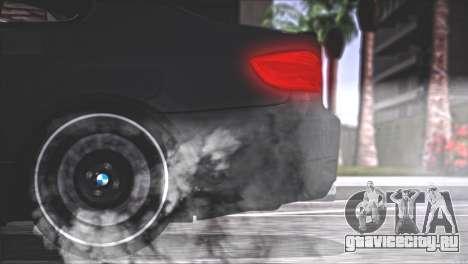 BMW M3 E92 2008 для GTA San Andreas вид снизу